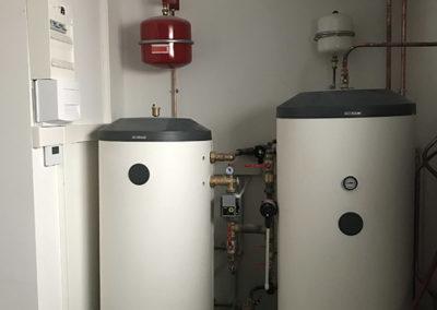 Pompe à Chaleur air eau ballon tampon et ballon eau chaude sanitaire